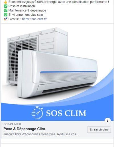 generation lead campagne facebook SEA clim